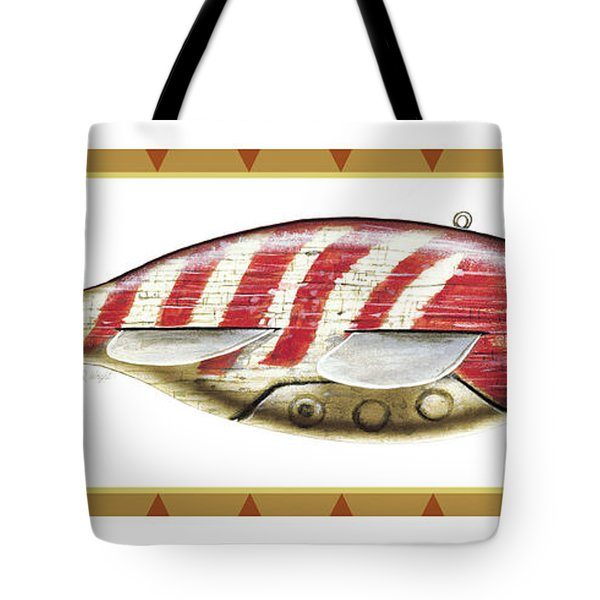 Bluegill Ice Spearing Decoy Tote Bag