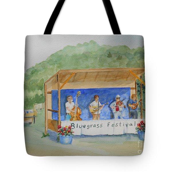 Bluegrass Festival Tote Bag by Christine Lathrop