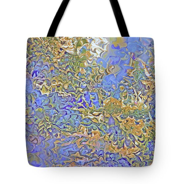 Bluegreen Abstract Tote Bag