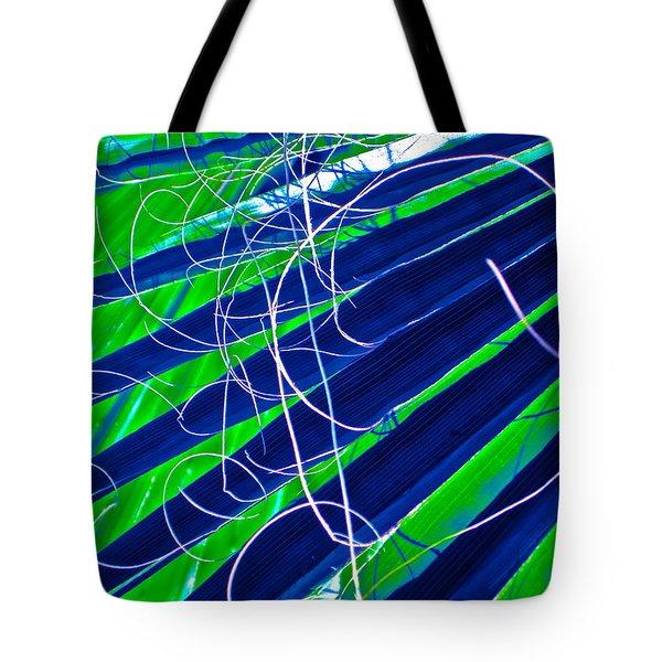 Bluegreen Palm Fun Tote Bag by Gwyn Newcombe