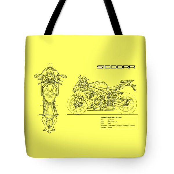 Blueprint Of A S1000rr Motorcycle Tote Bag