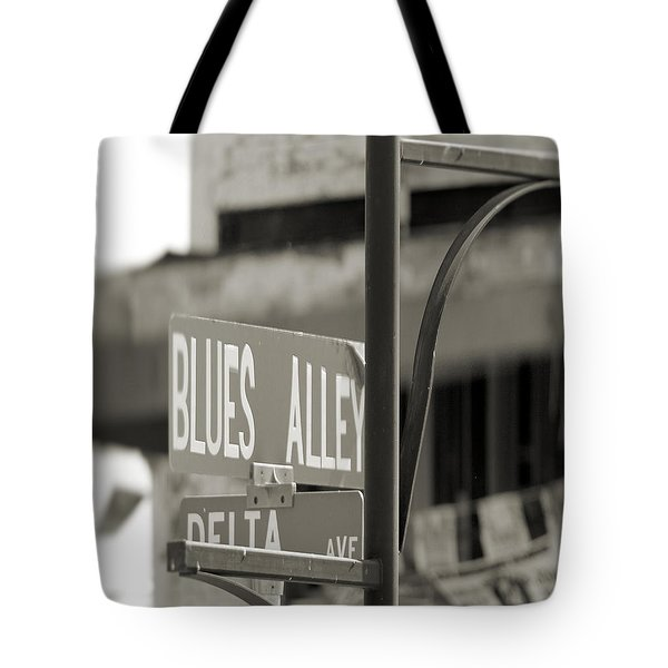 Blues Alley Street Sign Tote Bag