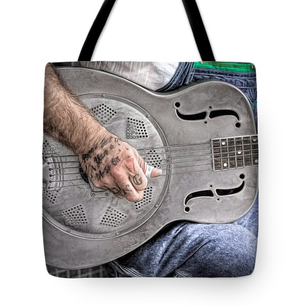 Blues And Tattoos Tote Bag