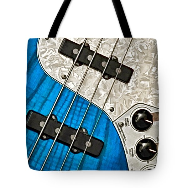 Blues Bass Tote Bag