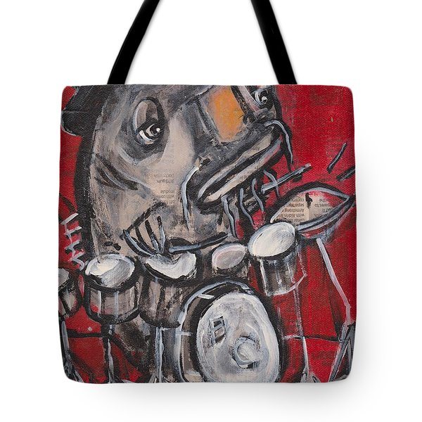 Blues Cat Drums Tote Bag