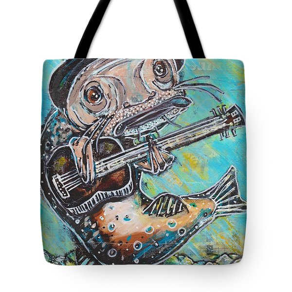 Blues Cat Revisited Tote Bag