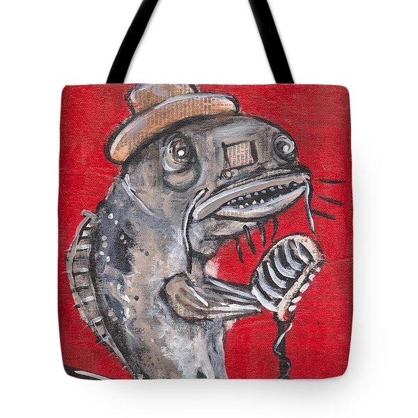 Blues Cat Singer Tote Bag