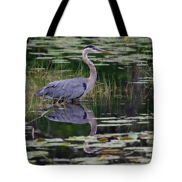 Blue's Image- Great Blue Heron Tote Bag