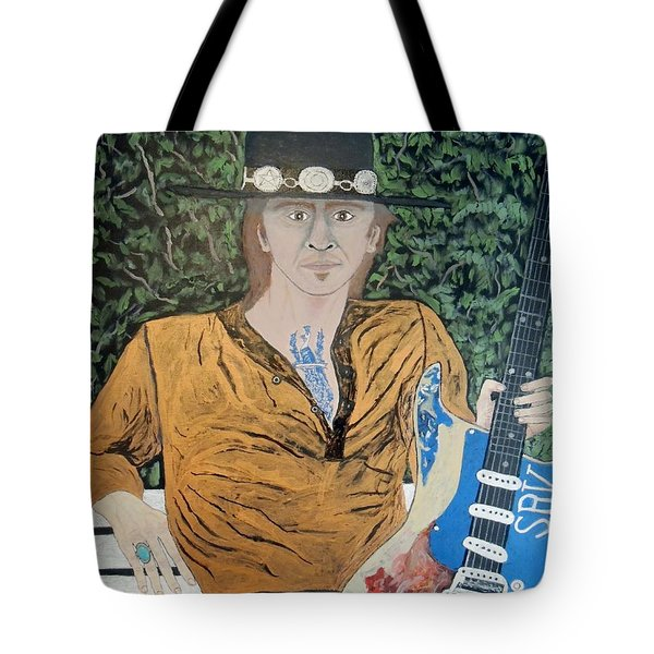 Blues In The Park With Stevie Ray Vaughan. Tote Bag by Ken Zabel