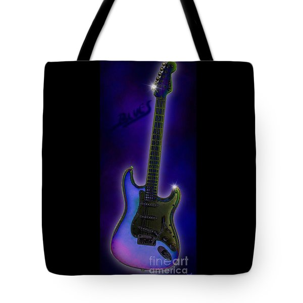 Tote Bag featuring the digital art Blues  by Nick Gustafson