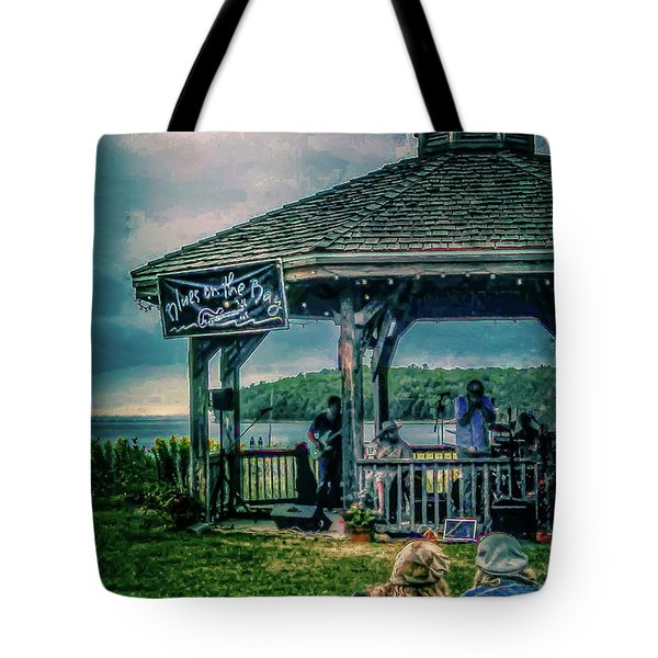 Blues On The Bay Tote Bag