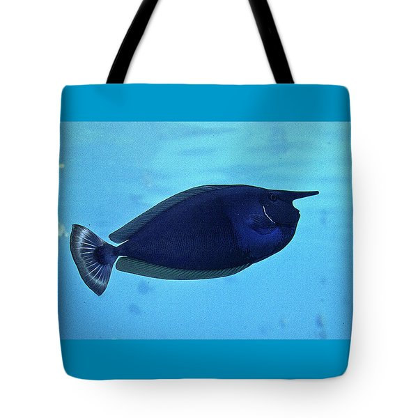Bluespine Unicorn Fish Tote Bag
