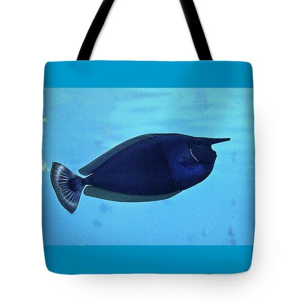 Bluespine Unicorn Fish Tote Bag