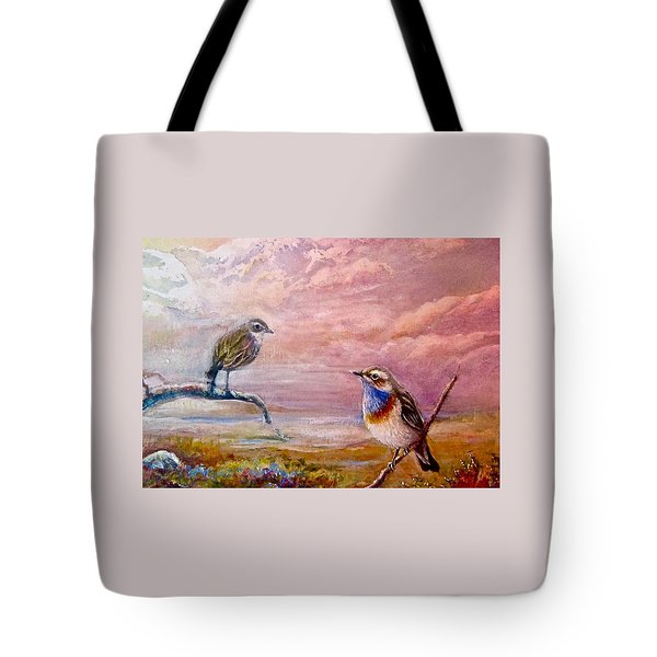 Bluethroat On The Tundra #2 Tote Bag