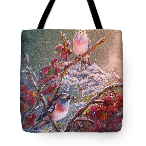Bluethroat On The Tundra/ #3 Tote Bag