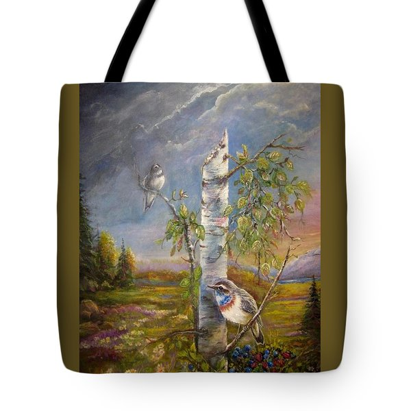 Bluethroat On The Tundra Tote Bag