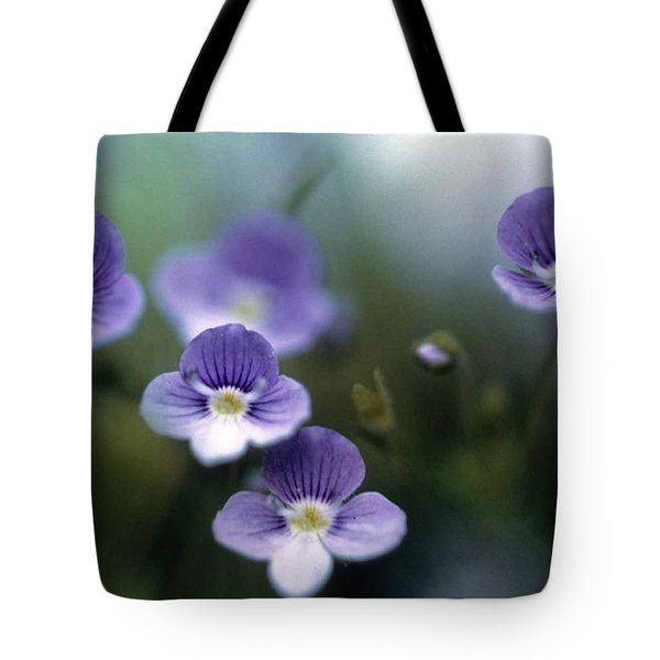 Bluettes Tote Bag by Laurie Paci