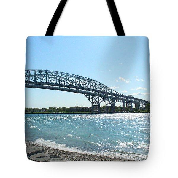 Bluewater Bridges Tote Bag