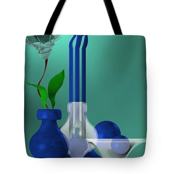 Bluish Still Life Growing Tote Bag