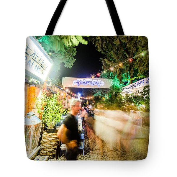 Blur Of Action In Alacati Tote Bag