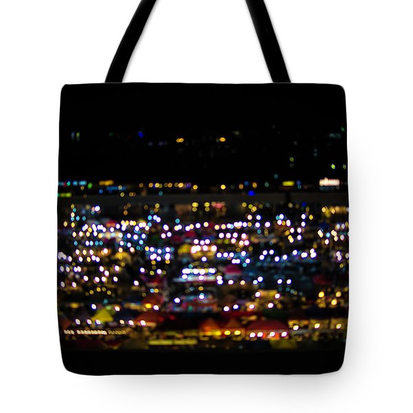 Tote Bag featuring the photograph Blurred City Lights  by Jingjits Photography