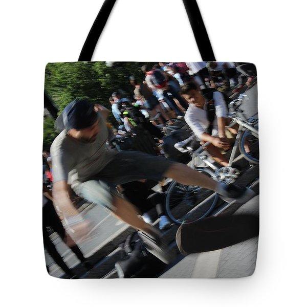 Blurred Kickflip Tote Bag