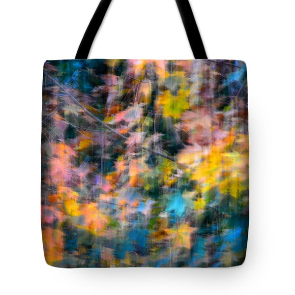 Blurred Leaf Abstract 2 Tote Bag