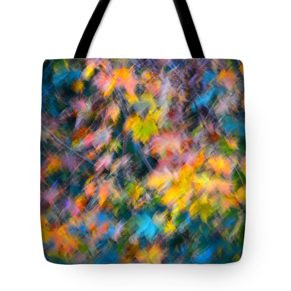 Blurred Leaf Abstract 3 Tote Bag