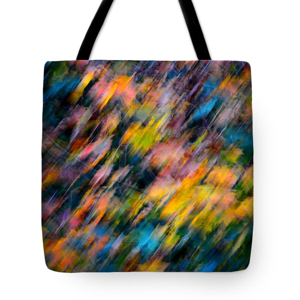 Blurred Leaf Abstract 4 Tote Bag