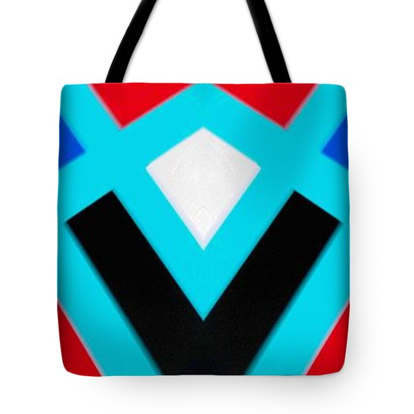 Tote Bag featuring the painting Blurred Lines by Carolyn Repka
