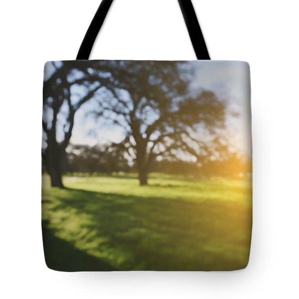 Blurred Nature Background With Vintage Style Background Tote Bag