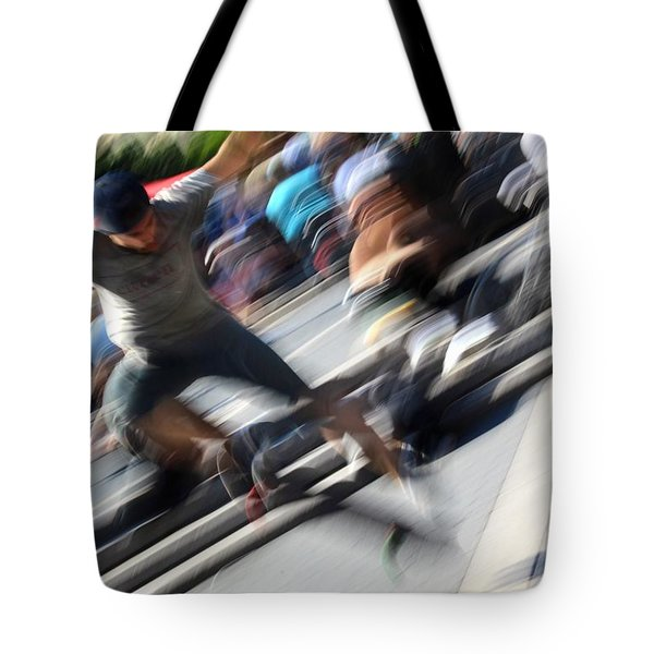 Blurred Ollie Tote Bag