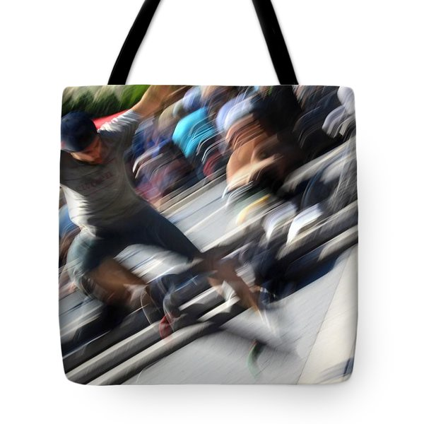 Blurred Ollie Tote Bag