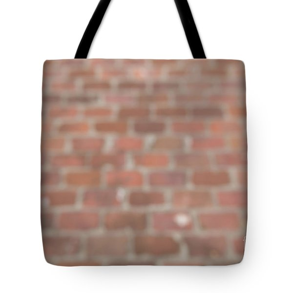 Tote Bag featuring the photograph Blurred Orange Brick Wall,floor Exterior,interior Pattern Design by Jingjits Photography