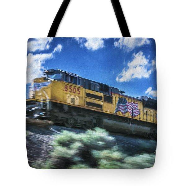 Blurred Rails Tote Bag