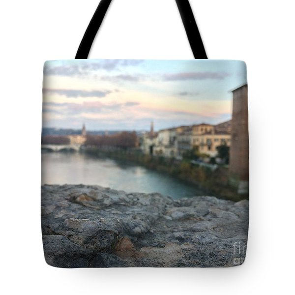 Blurred Verona Tote Bag
