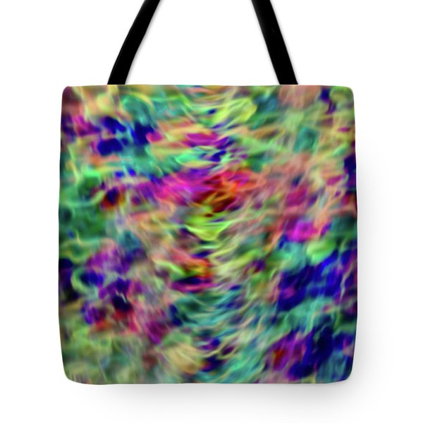 Tote Bag featuring the digital art Blurry Abstract 050116 by Matt Lindley