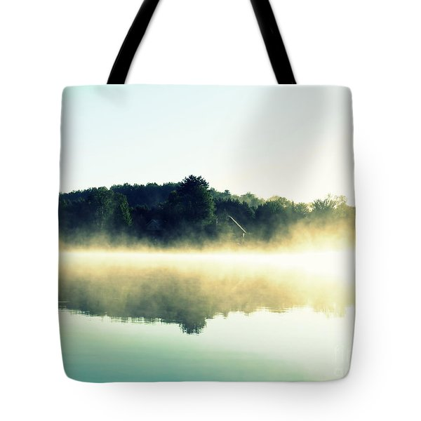 Tote Bag featuring the photograph Blurry Morning by France Laliberte