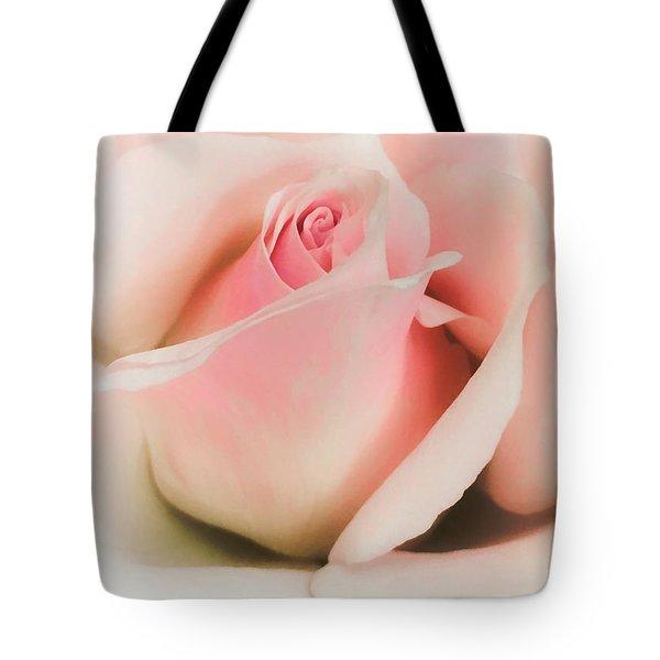 Blushing Petals Tote Bag