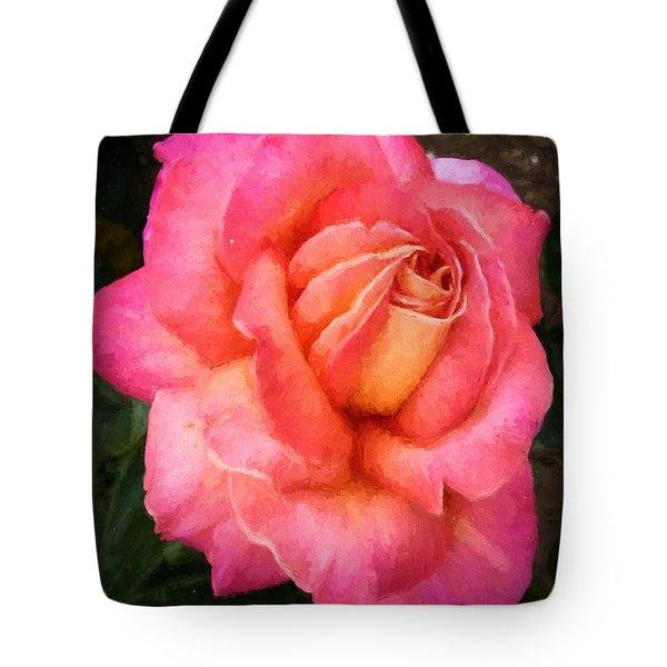 Blushing Rose Tote Bag