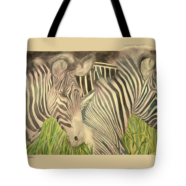 Blushing Stripes Tote Bag