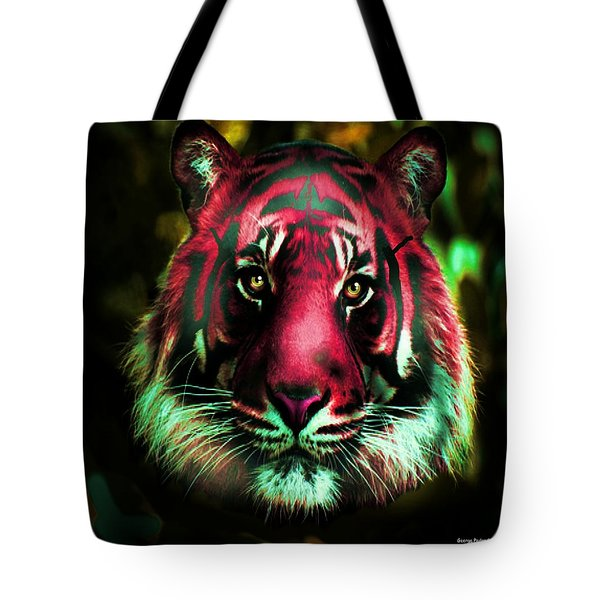 Tote Bag featuring the photograph Blushing Tiger by George Pedro