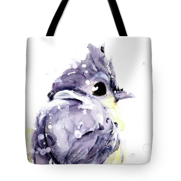 Tote Bag featuring the painting Blustery by Dawn Derman