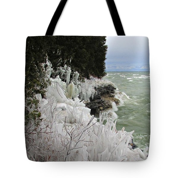 Tote Bag featuring the photograph Blustery Lake Michigan Day by Greta Larson Photography