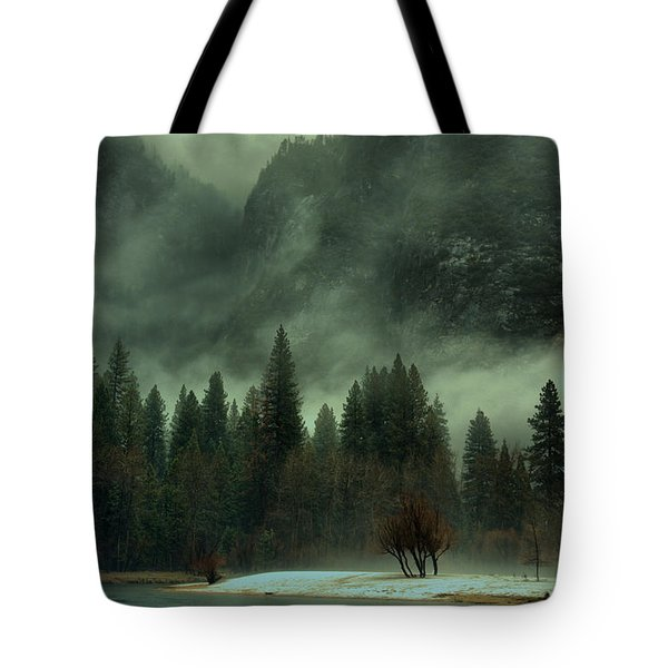 Blustery Yosemite Tote Bag by Josephine Buschman
