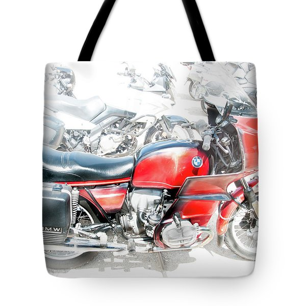 Tote Bag featuring the photograph Bmw 100 S Airhead by Britt Runyon