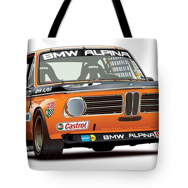 Bmw 2002 Alpina Illustration Tote Bag