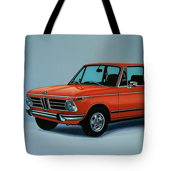 Bmw 2002 1968 Painting Tote Bag by Paul Meijering