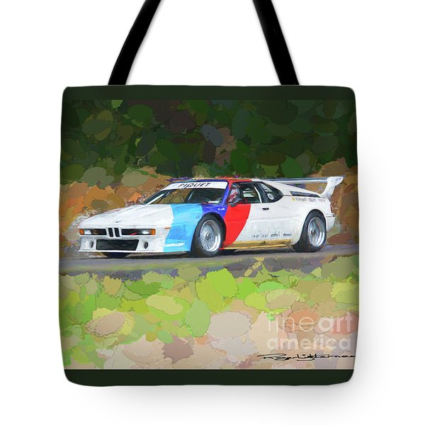Bmw M1 Tote Bag by Roger Lighterness