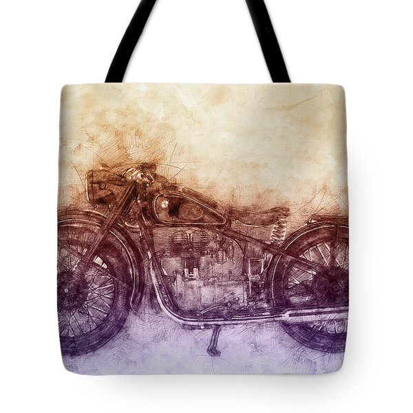 Bmw R32 - 1919 - Motorcycle Poster  2 - Automotive Art Tote Bag